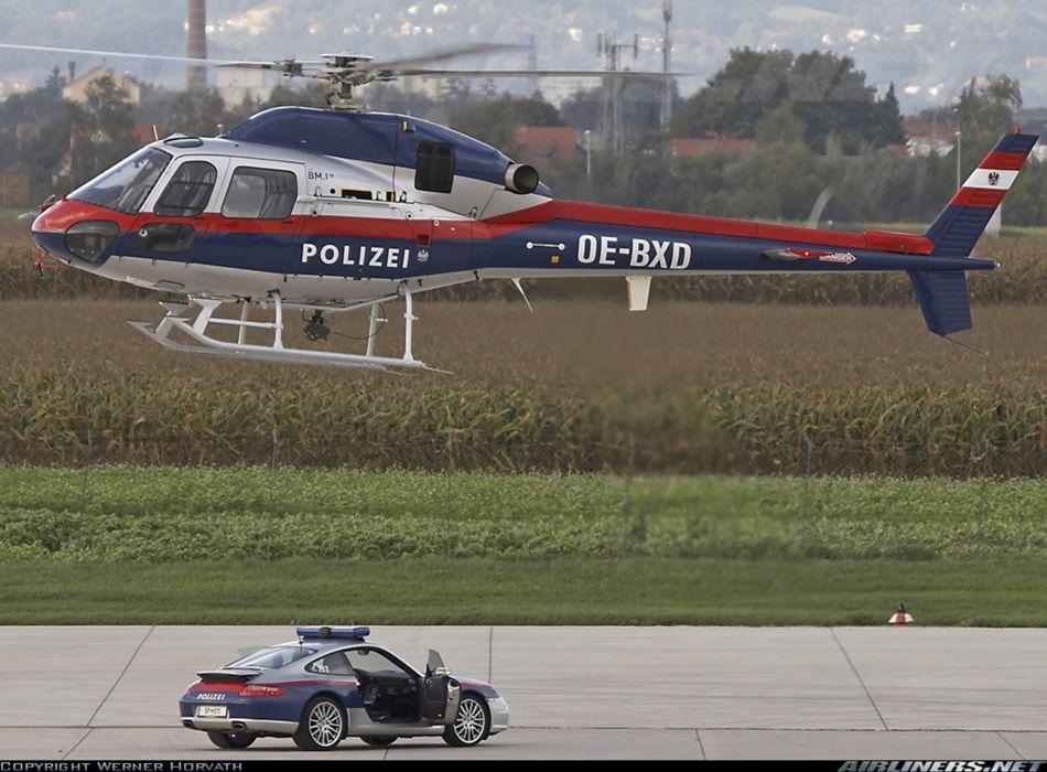 Helicopter Aircraft Vehicle Police Austria Porsche wallpaper