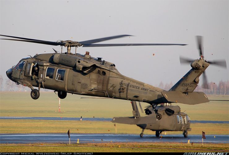 Helicopter Aircraft Vehicle Military Army Black Hawk wallpaper