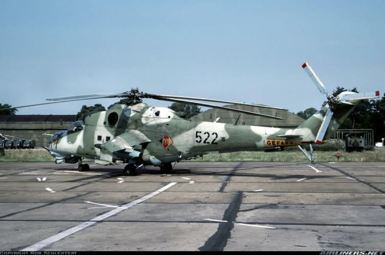 Helicopter Aircraft Vehicle Military Army Attack Mil-Mi East-Germany wallpaper