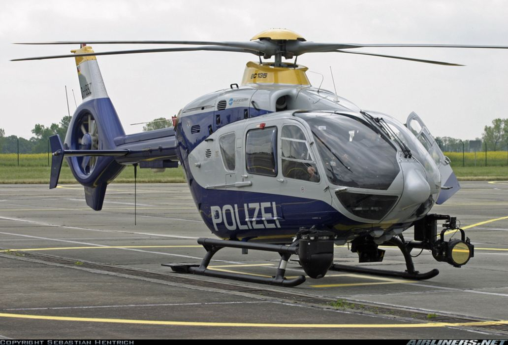 Helicopter Aircraft Vehicle Police Germany Eurocopter EC-135 wallpaper