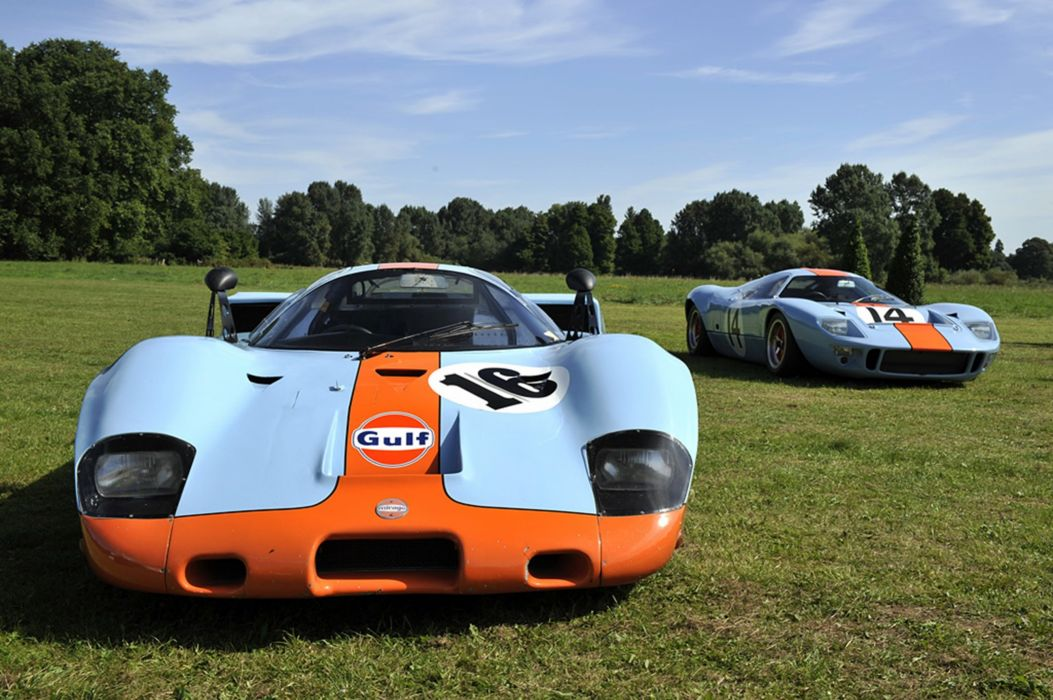 Race Car Classic Vehicle Racing Mirage Ford GT-40 Gulf Le-Mans LMP1 2667x1779 wallpaper