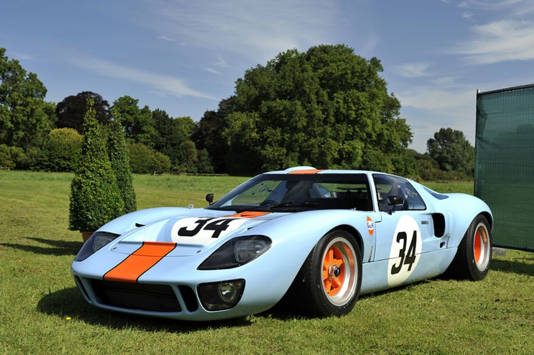 Race Car Classic Vehicle Racing Ford GT-40 Gulf Le-Mans LMP1 2667x1779 wallpaper