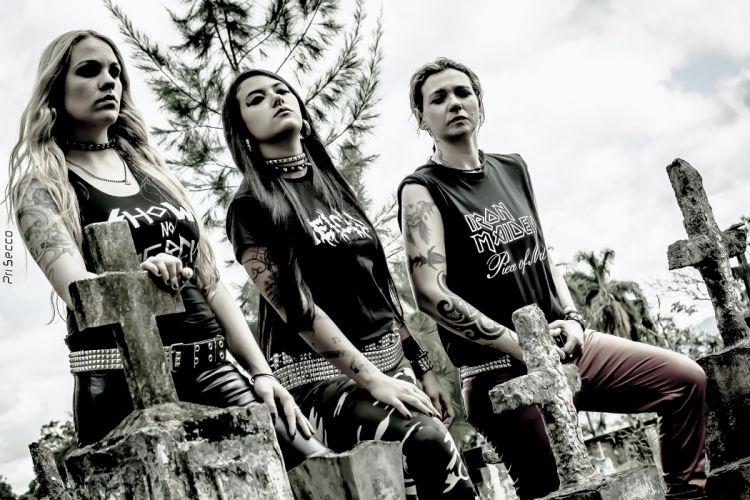 NERVOSA thrash metal heavy girl tattoo rock brazil babe wallpaper