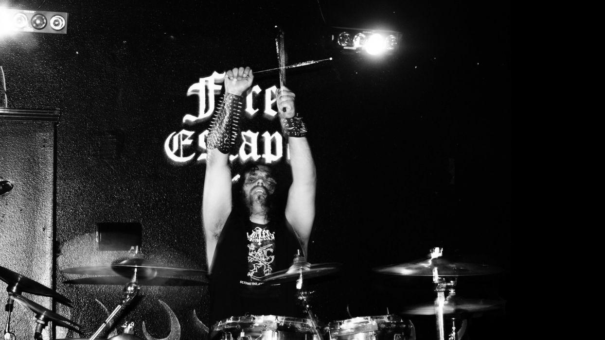 DODSFERD black death metal heavy occult satani dark poster concert drums wallpaper