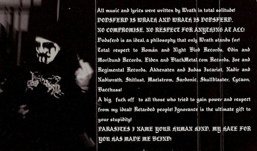 DODSFERD black death metal heavy occult satanic dark poster wallpaper