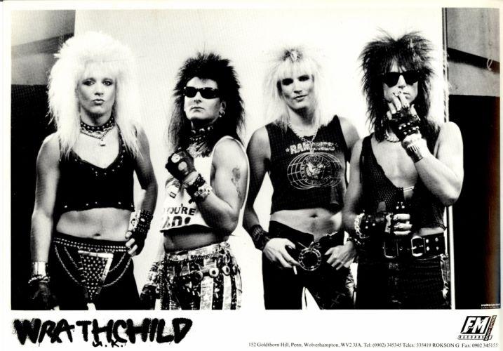 WRATHCHILD hair metal heavy glam rock poster wallpaper