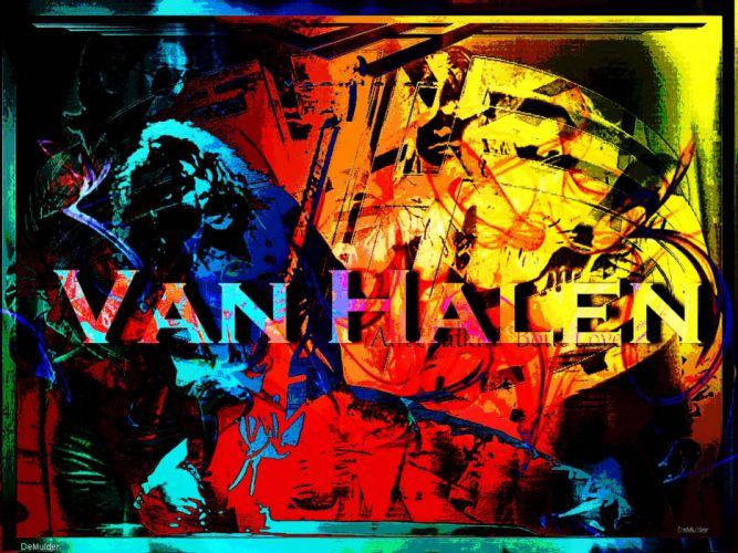 VAN HALEN hard rock heavy metal classic poster psychedelic wallpaper