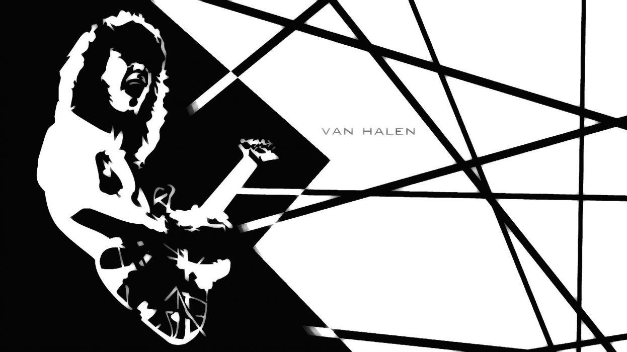 VAN HALEN hard rock heavy metal classic guitar psychedelic wallpaper