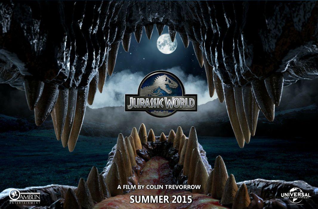 JURASSIC WORLD adventure sci-fi dinosaur fantasy film 2015 park (9) wallpaper