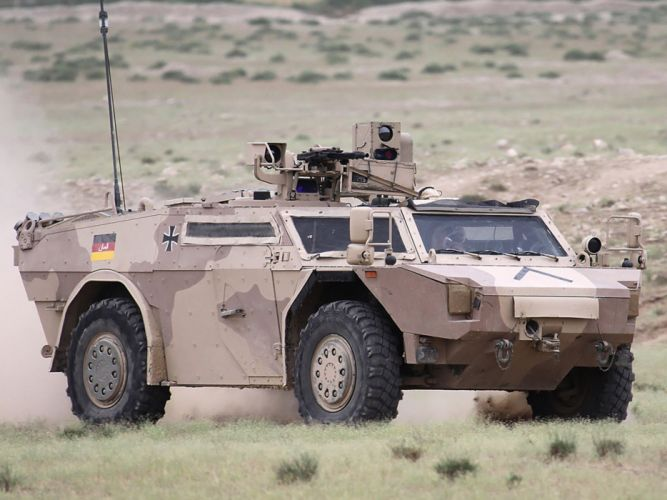 Germany NATO desert combat vehicle armored war military army 4000x3000 kmw fennek 2001 ISAF wallpaper
