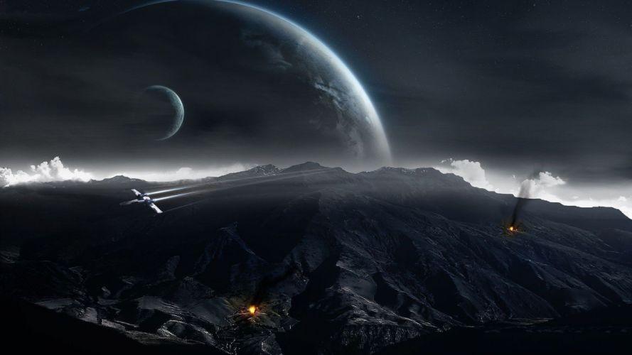 INTERSTELLAR adventure mystery sci-fi futuristic film spaceship space wallpaper