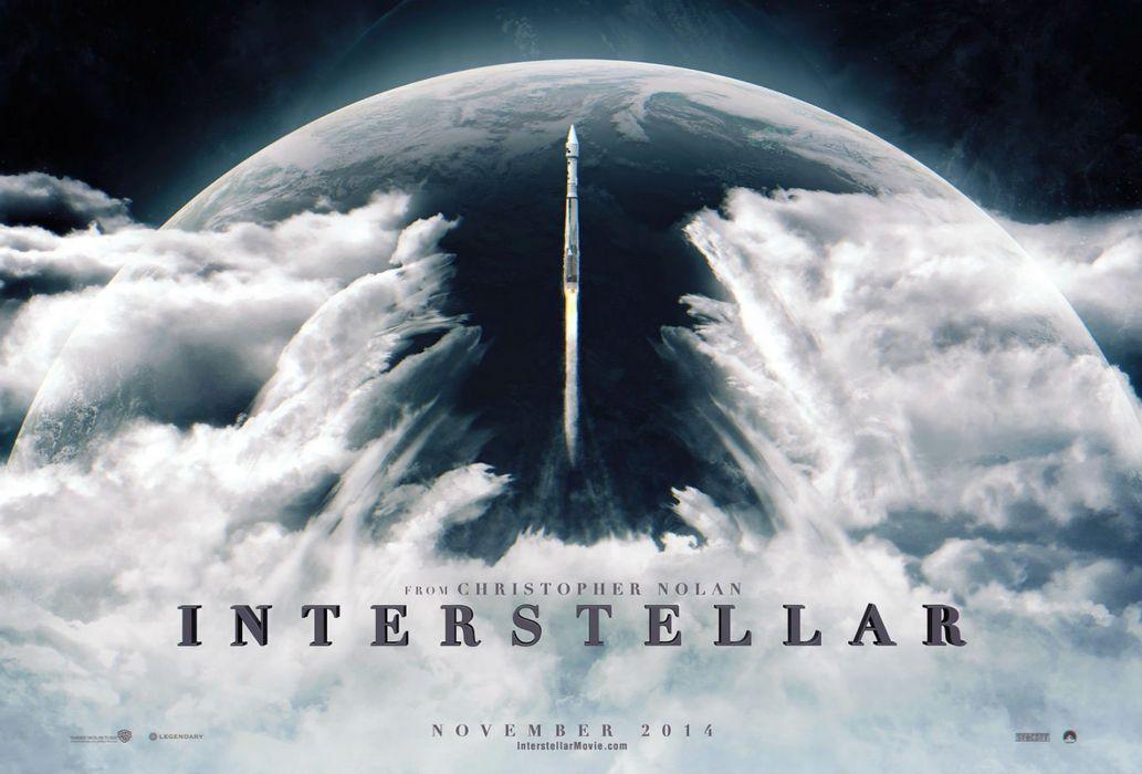 INTERSTELLAR adventure mystery sci-fi futuristic film spaceship poster planet wallpaper