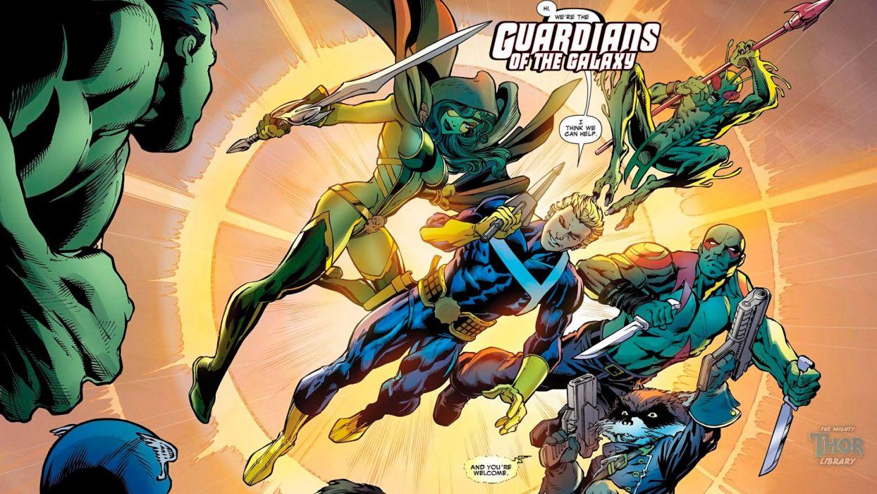 GUARDIANS OF THE GALAXY action adventure sci-fi marvel futuristic (28) wallpaper