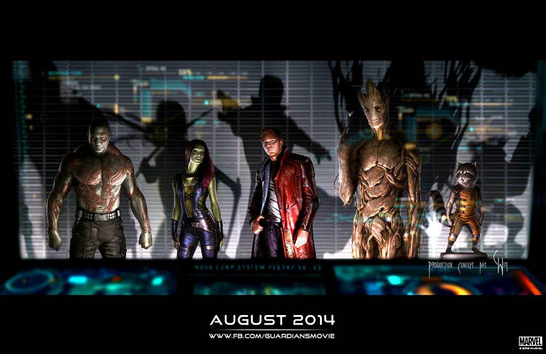 GUARDIANS OF THE GALAXY action adventure sci-fi marvel futuristic (29) wallpaper