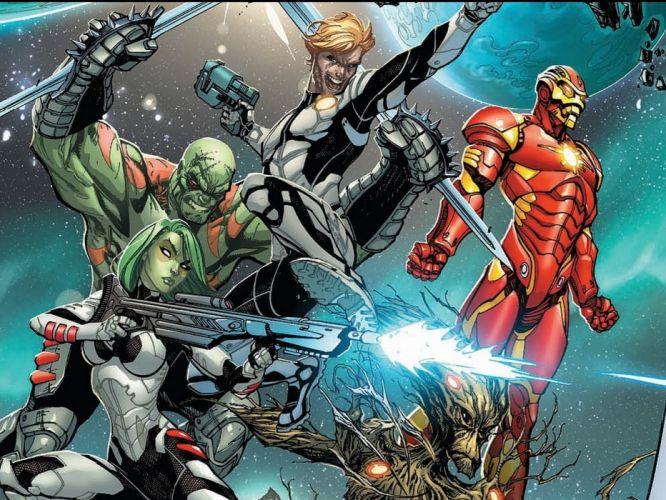 GUARDIANS OF THE GALAXY action adventure sci-fi marvel futuristic (35) wallpaper