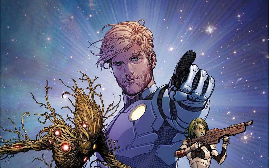 GUARDIANS OF THE GALAXY action adventure sci-fi marvel futuristic (41) wallpaper