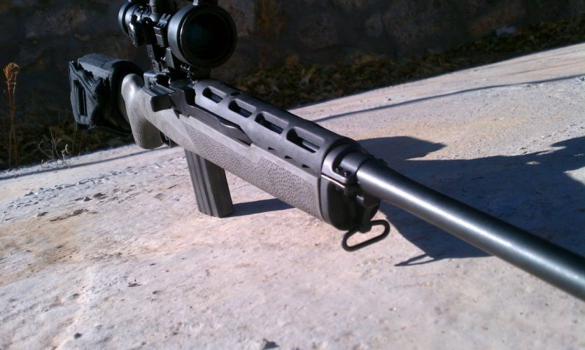 MINI-14 assault rifle weapon gun military mini (1) wallpaper