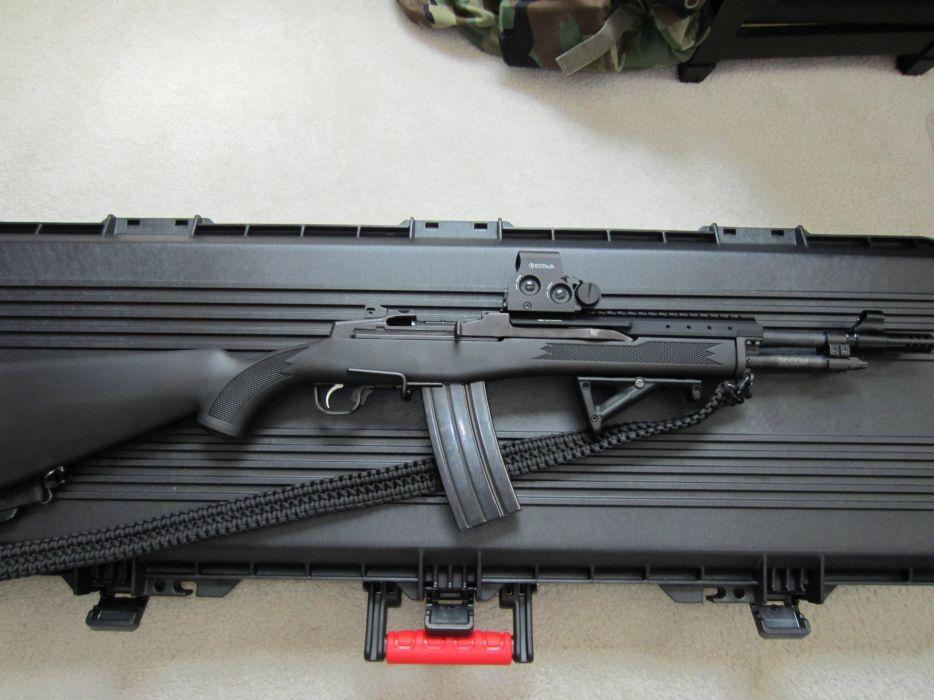 MINI-14 assault rifle weapon gun military mini (7) wallpaper