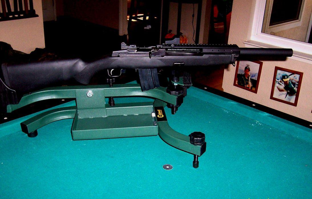 MINI-14 assault rifle weapon gun military mini (8) wallpaper