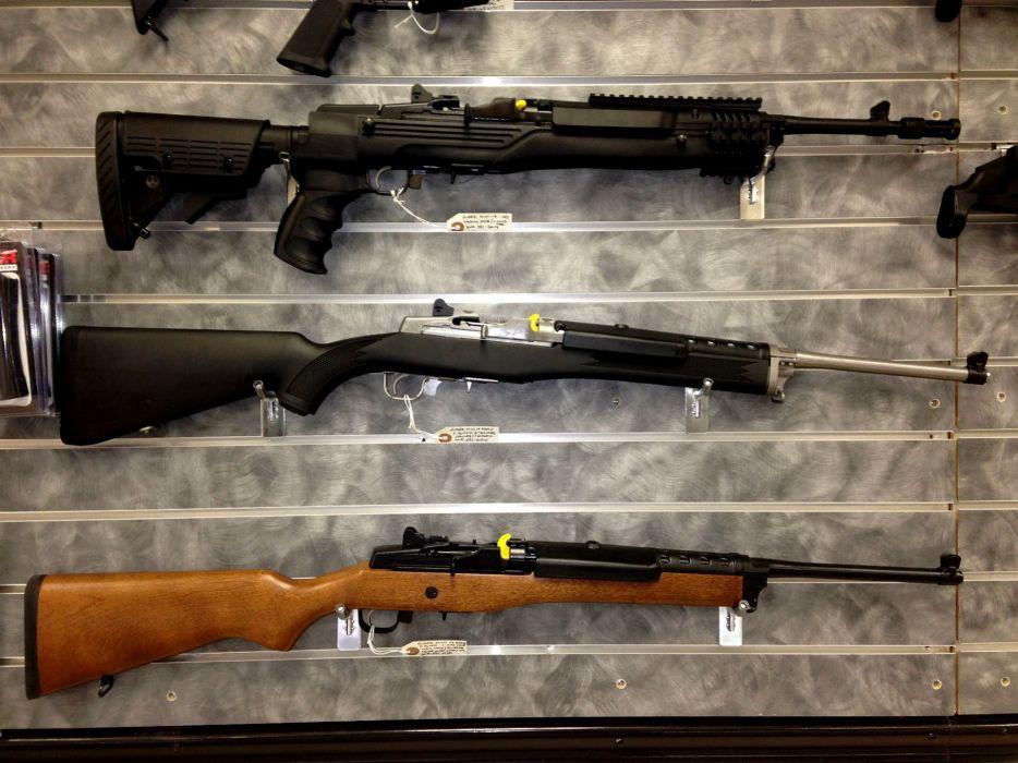 MINI-14 assault rifle weapon gun military mini (21) wallpaper