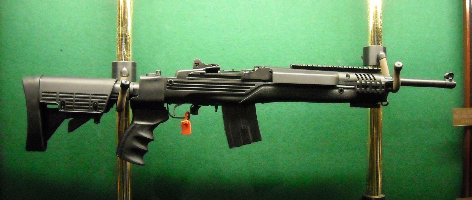 MINI-14 assault rifle weapon gun military mini (23) wallpaper
