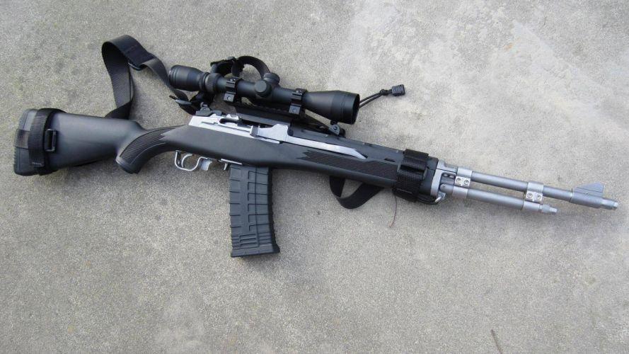 MINI-14 assault rifle weapon gun military mini (26) wallpaper
