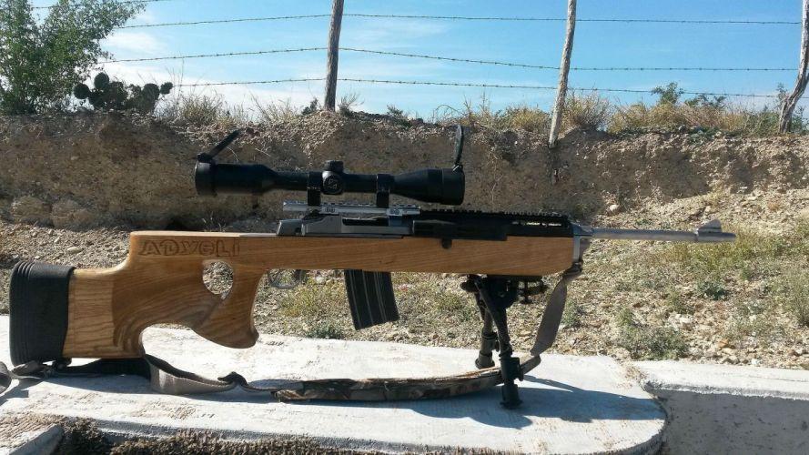MINI-14 assault rifle weapon gun military mini (36) wallpaper