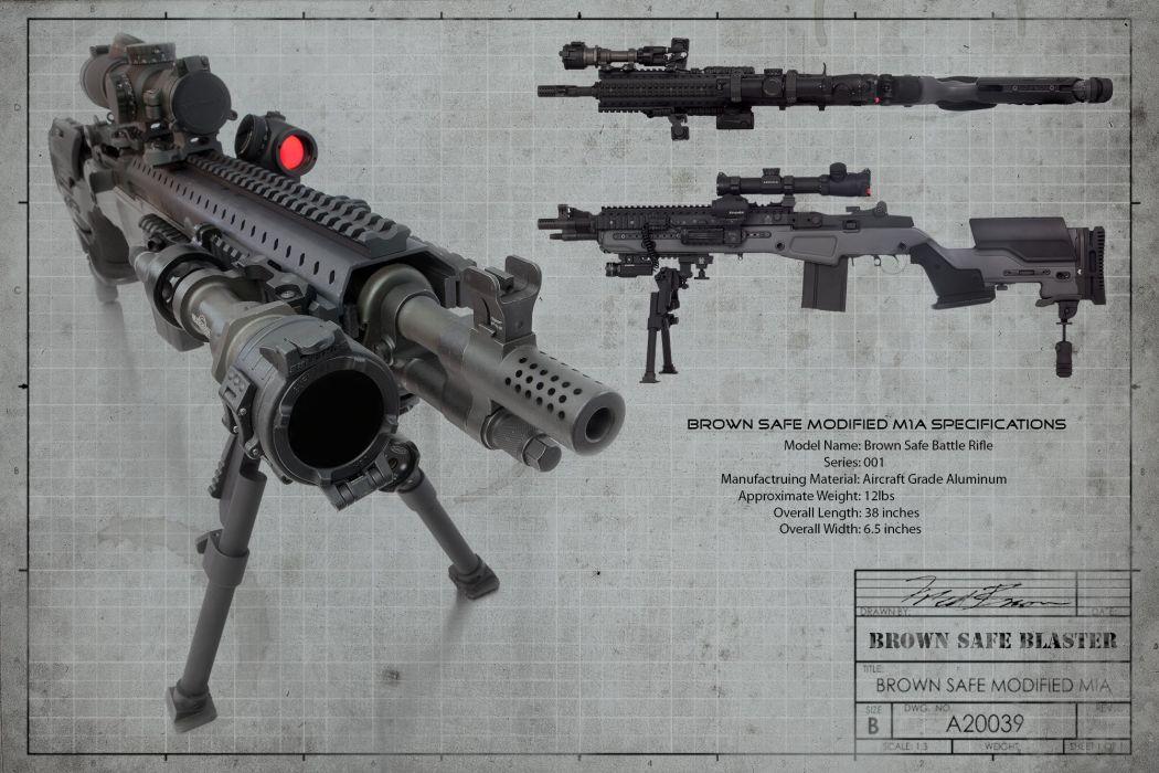 MINI-14 assault rifle weapon gun military mini (38) wallpaper