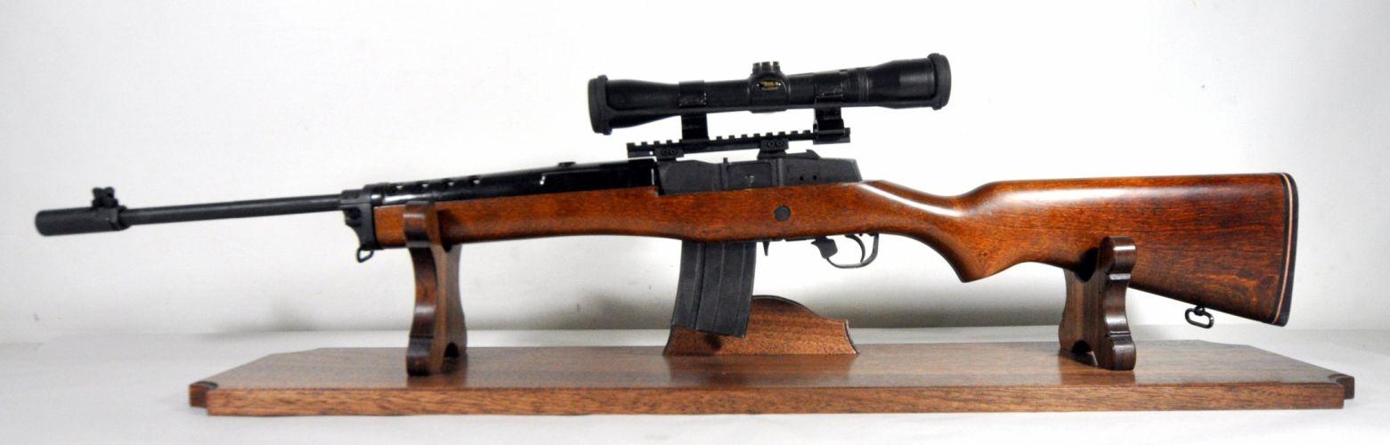 MINI-14 assault rifle weapon gun military mini (40) wallpaper