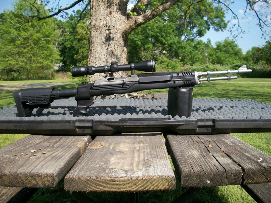 MINI-14 assault rifle weapon gun military mini (45) wallpaper