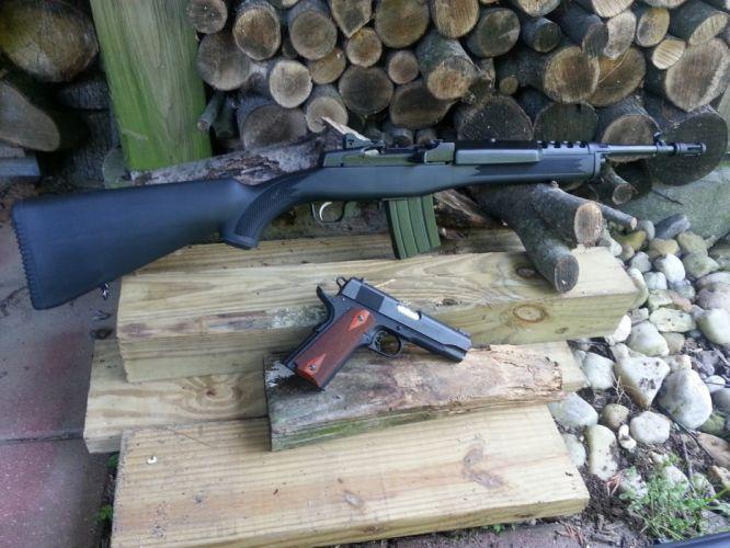 MINI-14 assault rifle weapon gun military mini (44) wallpaper