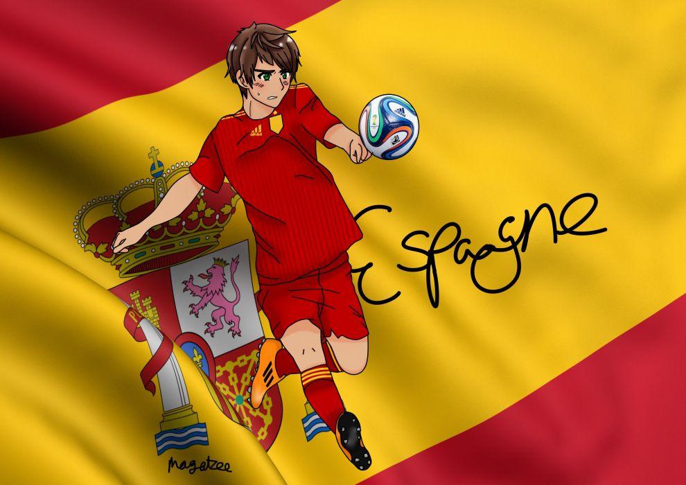Axis Powers Hetalia Spain soccer fifa wallpaper