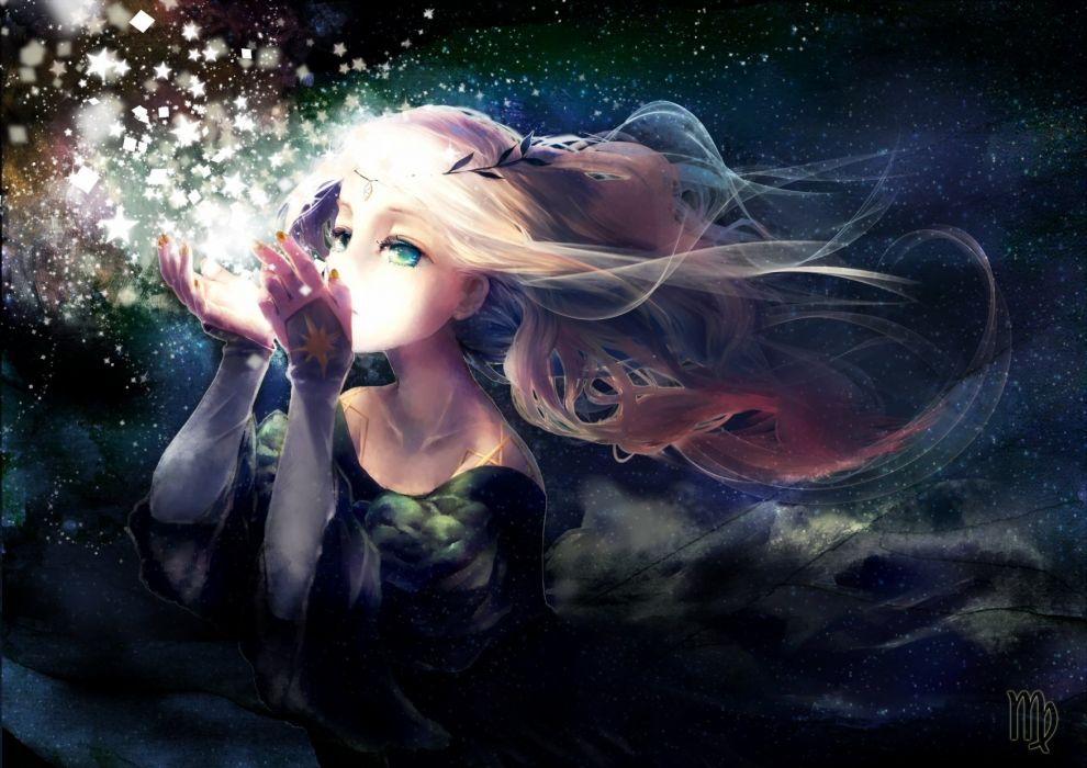 blonde hair dress original stars yukino neko wallpaper