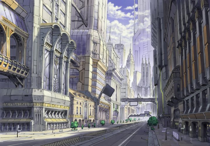 building city clouds nobody original scenic shade tomaknights wallpaper