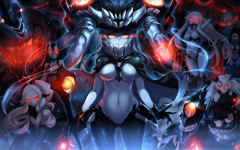 Kantai Collection airfield hime armored aircraft carrier hime battleship-symbiotic hime southern ocean war hime ta-class Anime Girls wallpaper