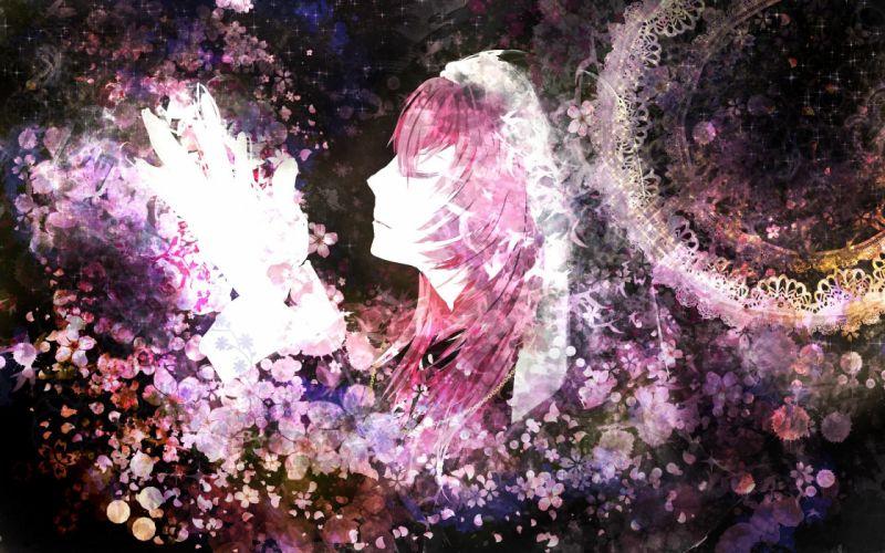 maedanhat megurine luka pink hair vocaloid wallpaper
