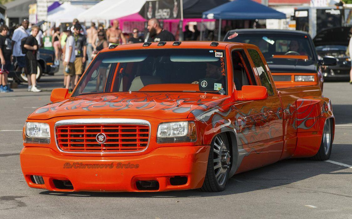 Low Cadillac Escalade dually pickup wallpaper