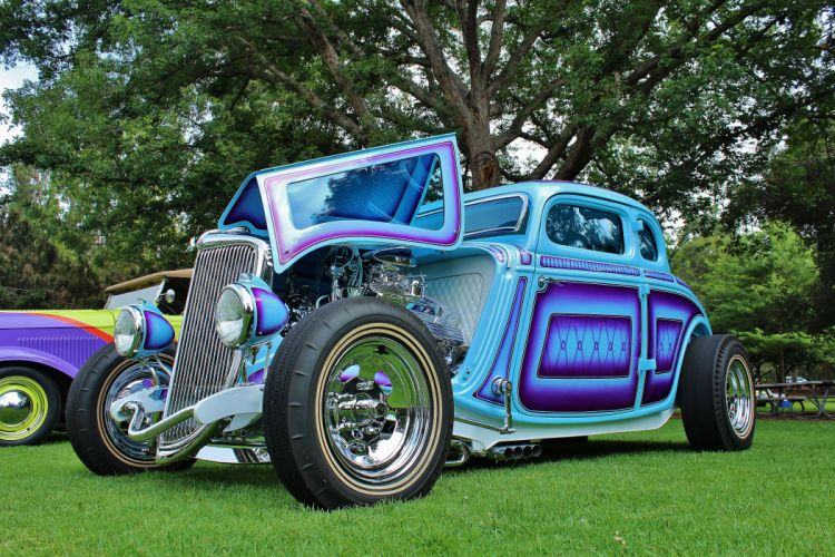 1934 Ford 5-Window Coupe wallpaper