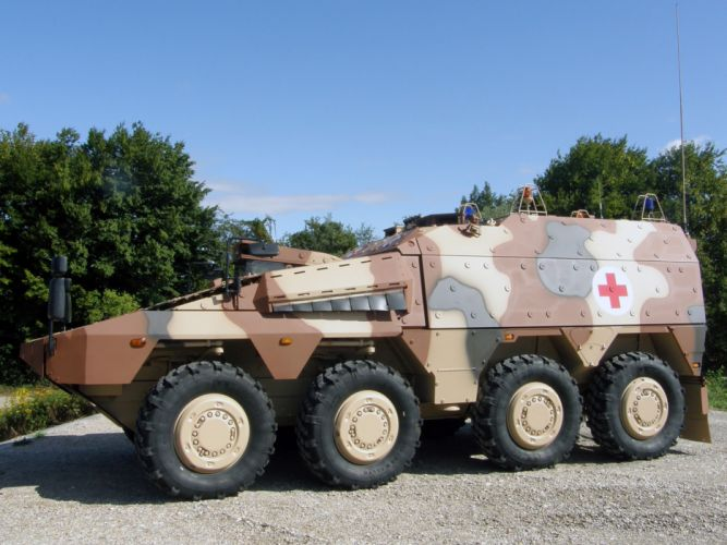 kmw artec boxer 8x8 ambulance 2010 Germany NATO combat vehicle armored war military army 4000x3000 wallpaper
