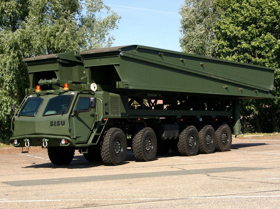 Germany NATO combat vehicle armored war military army 4000x3000 kmw sisu e15t 10x10 bridge system 2006 wallpaper