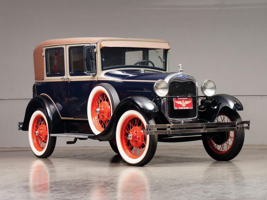 1928 Ford Model-A Fordor Sedan (60A) retro   g wallpaper