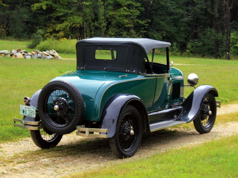 1928 Ford Model-A Roadster 40A retro  f wallpaper