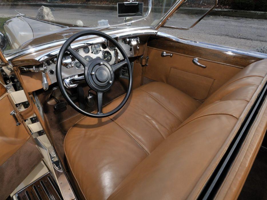 1930 Duesenberg Model-J 391-2315 Convertible Berline LWB Murphy retro luxury interior wallpaper