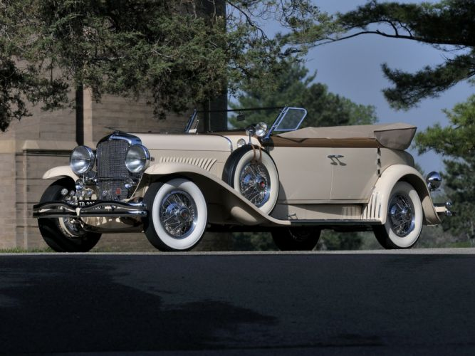 1930 Duesenberg Model-J 391-2315 Convertible Berline LWB Murphy retro luxury f wallpaper