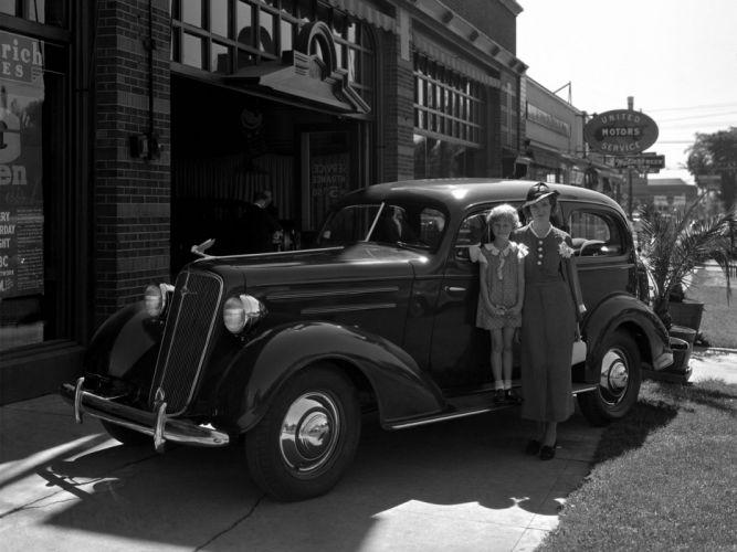 1935 Chevrolet Master DeLuxe 2-door Town Sedan (EA-ED) retro g wallpaper