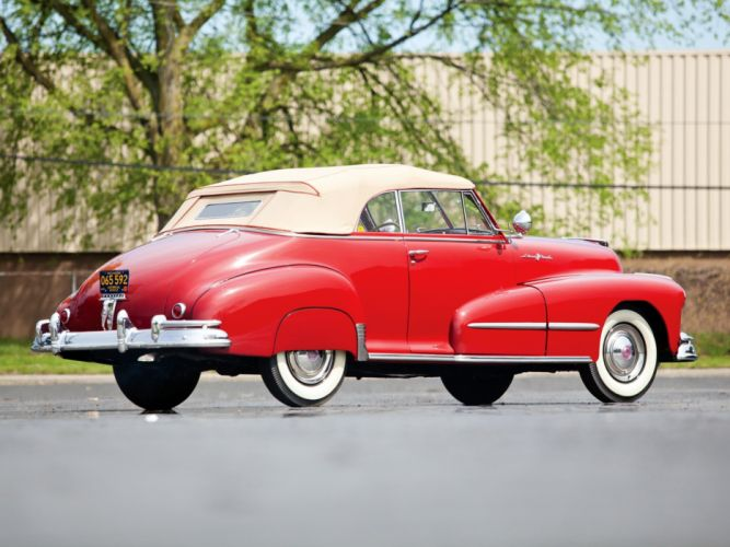 1948 Pontiac Torpedo Eight Deluxe Convertible (8PA-2767) retro luxury f wallpaper