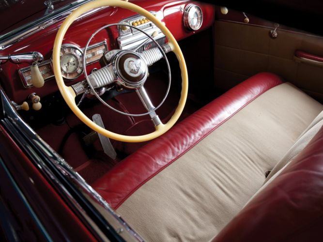 1948 Pontiac Torpedo Eight Deluxe Convertible (8PA-2767) retro luxury interior g wallpaper