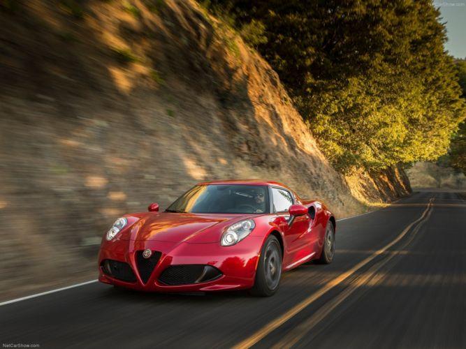 Alfa-Romeo 4C-Coupe US-Version 2015 Car Italy Supercar Sport Sportcar Supersport Italian Wallpaper 4000x3000 (8) wallpaper