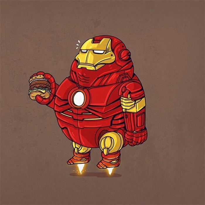 Iroman Fat Marvel Comics Cartoon Movie Avengers Wallpaper 1600x1600 369005 Wallpaperup