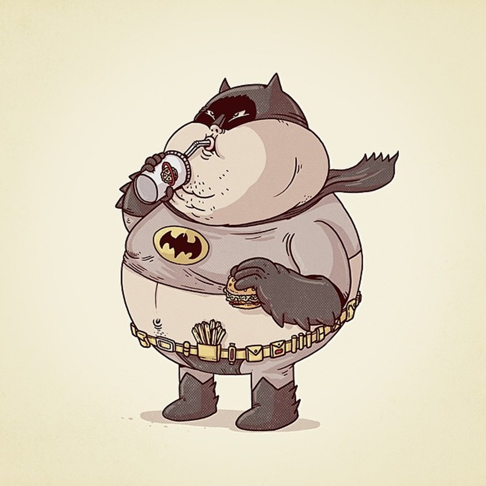 Batman Fat Superhero Dc-comics Comics Cartoon Wallpaper | 1600x1600 | 369006 | WallpaperUP